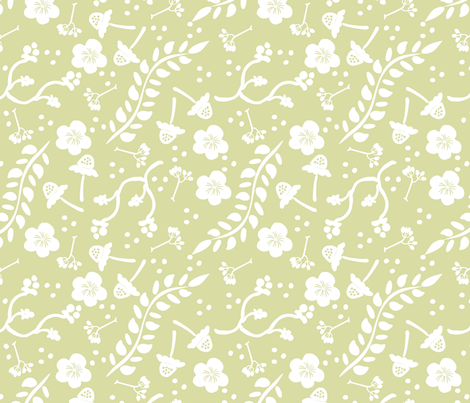 Spring in Green fabric by fat_bird_designs on Spoonflower - custom fabric