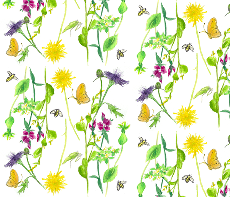 Bee Botanical fabric by countrygarden on Spoonflower - custom fabric