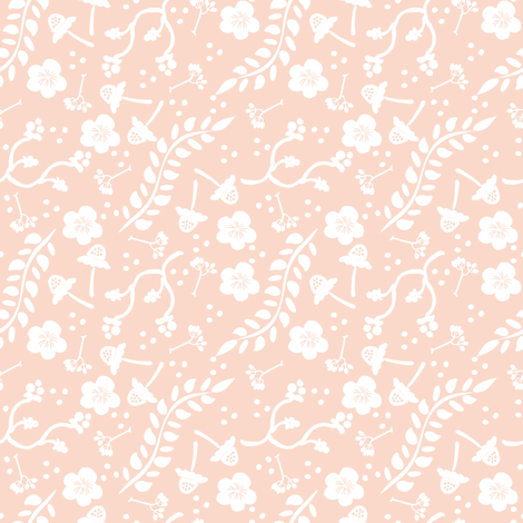Spring in Pink-ch fabric by fat_bird_designs on Spoonflower - custom fabric