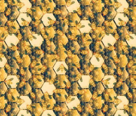 honeycomb fabric by kociara on Spoonflower - custom fabric