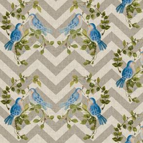 Linen Bluebirds