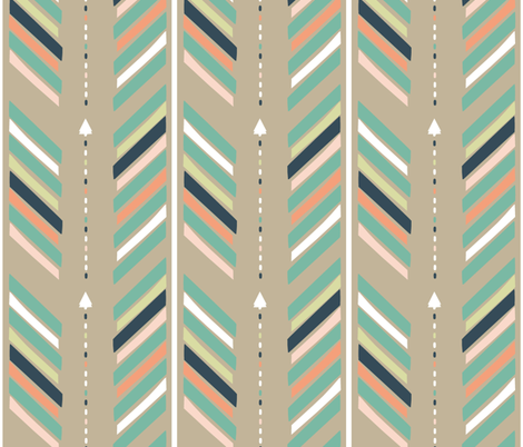 Arrows Brown fabric by fat_bird_designs on Spoonflower - custom fabric
