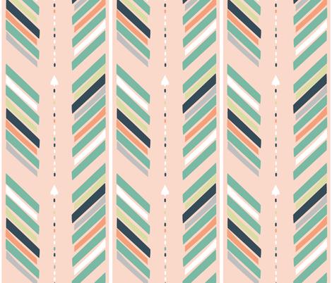Arrows Pink fabric by fat_bird_designs on Spoonflower - custom fabric