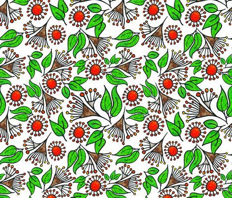 Australian Christmas fabric by bunyipdesigns on Spoonflower - custom fabric