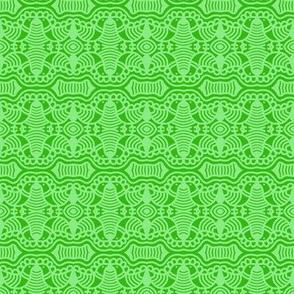 Green Birds and Grass 2