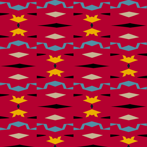 Santa Fe Night (Red) fabric by david_kent_collections on Spoonflower - custom fabric