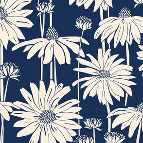 Sunshine Daisy - Cream Indigo