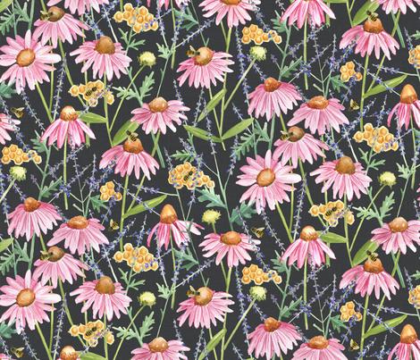Honey Bee Garden fabric by jillbyers on Spoonflower - custom fabric