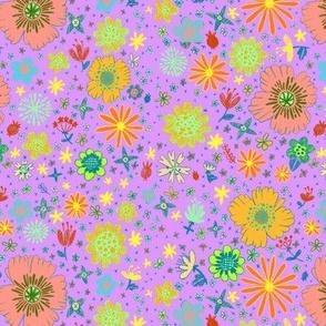 Ditzy Flowers in Lavender