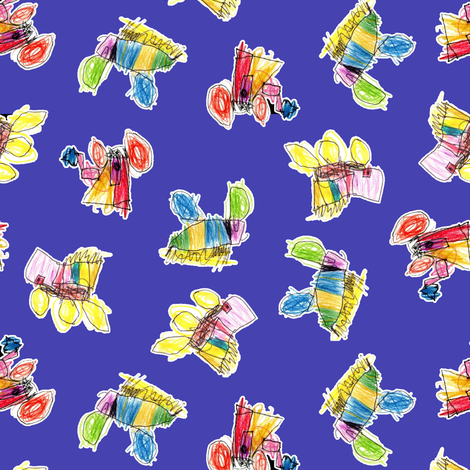 Bubbie's trucks on purple fabric by weavingmajor on Spoonflower - custom fabric