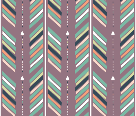 Arrows Purple fabric by fat_bird_designs on Spoonflower - custom fabric