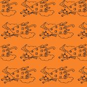 Flying Cat Orange