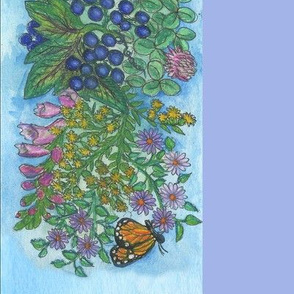 Flowers Border Print