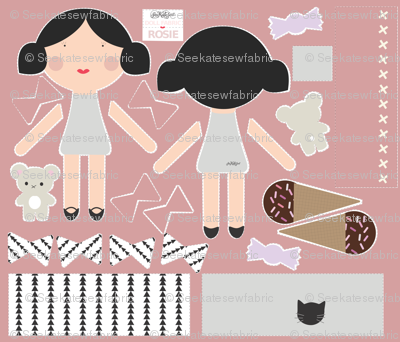 Rosie - Doll Fabric