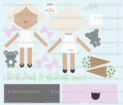 Pearl - Doll Fabric