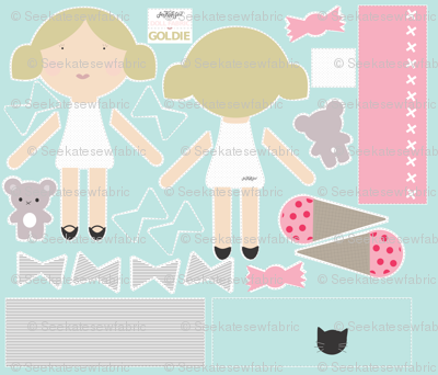Goldie - Doll Fabric