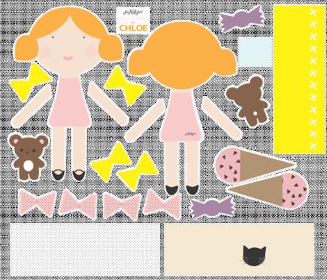 Chloe - Doll Fabric fabric by seekatesewfabric on Spoonflower - custom fabric