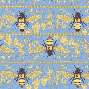 Lace Bee yellow/blue