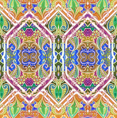 The Painted Jungle fabric by edsel2084 on Spoonflower - custom fabric