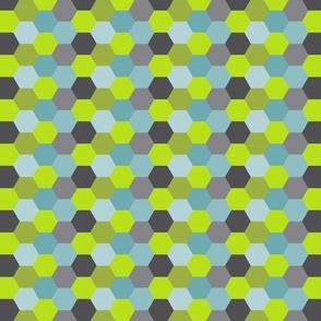 bee honeycomb blue