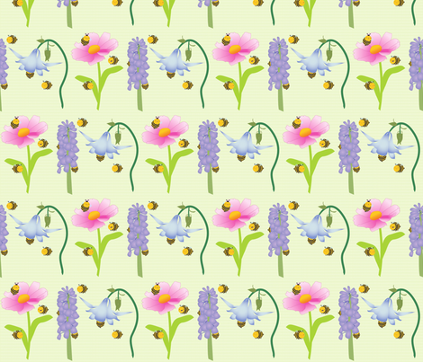 Fuzzy Bumbles fabric by mrs_buns on Spoonflower - custom fabric