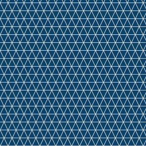 Kahn-Inspired Triangles, blue, small (1 inch)