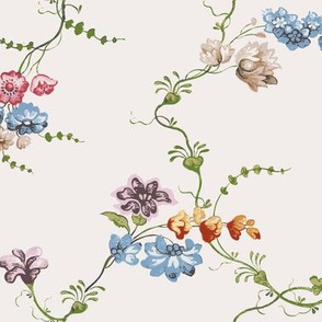 18th Century Flower Floral Print 1742