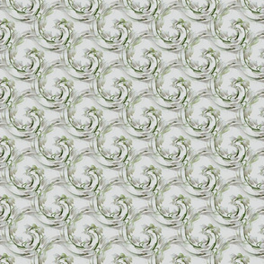 Swirled Lily of the Valley on White