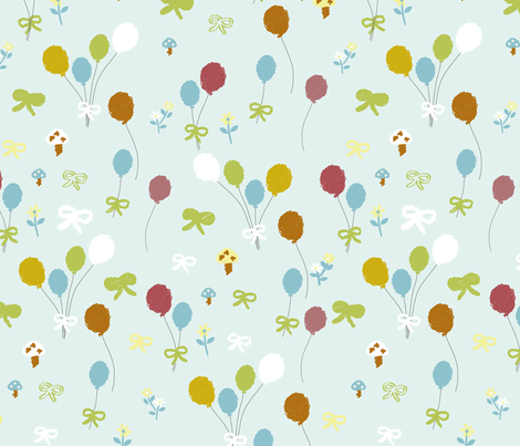 Flying balloons fabric by sindychang on Spoonflower - custom fabric