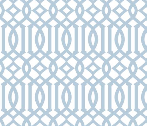 Arabesque Blue Wedgewood fabric by brainsarepretty on Spoonflower - custom fabric
