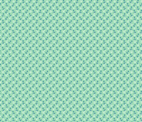 Anchors Away Teal fabric by littlerhodydesign on Spoonflower - custom fabric