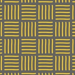 tribal yellow on dark grey
