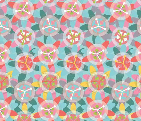 Passionflower - Bright fabric by owlandchickadee on Spoonflower - custom fabric