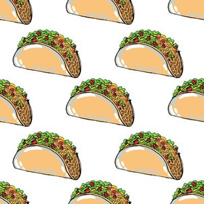 Tacos on White