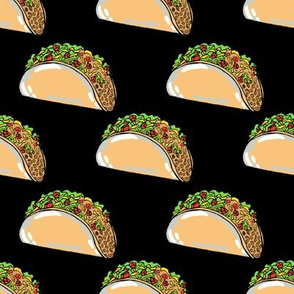 Tiny Tacos on Black