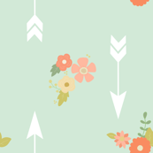 Arrows and flowers
