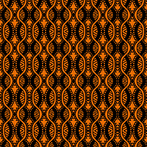 Serpentine Arrows Orange Brown fabric by eve_catt_art on Spoonflower - custom fabric