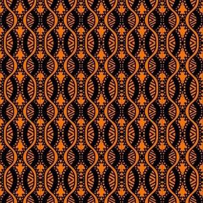 Serpentine Arrows Orange Brown