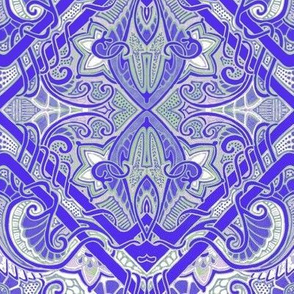 Blue-Purple Paisley Gavotte