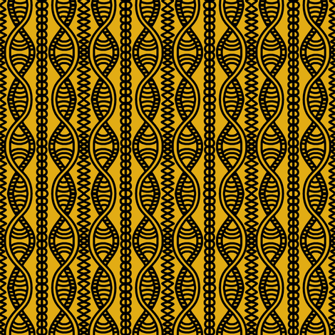 Serpentine Cables Gold Brown 1 fabric by eve_catt_art on Spoonflower - custom fabric