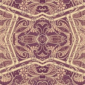 Chocolate Paisley Geometry