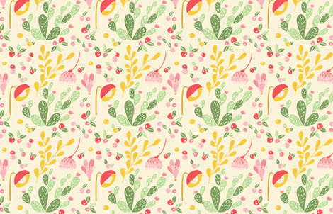 California dreaming fabric by thislittlestreet on Spoonflower - custom fabric
