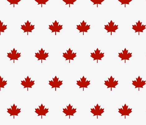 Red Maple Leaf, Canada Day fabric by atticusandtheo on Spoonflower - custom fabric
