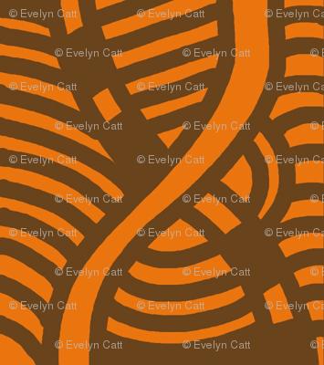 Serpentine Segments Muted Orange