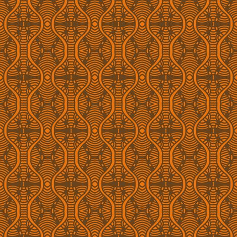 Serpentine Segments Muted Orange fabric by eve_catt_art on Spoonflower - custom fabric