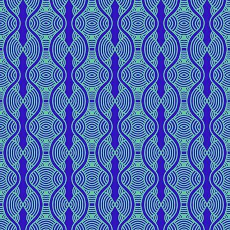 Blue Ripples Hourglass 2 fabric by eve_catt_art on Spoonflower - custom fabric
