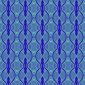 Blue Ripples Hourglass 2