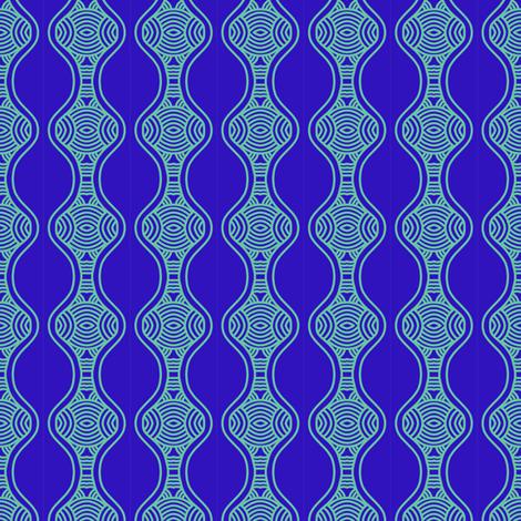Blue Ripples Hourglass 3 fabric by eve_catt_art on Spoonflower - custom fabric