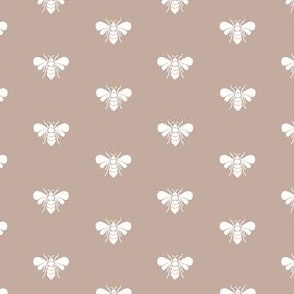 Small bees on grey