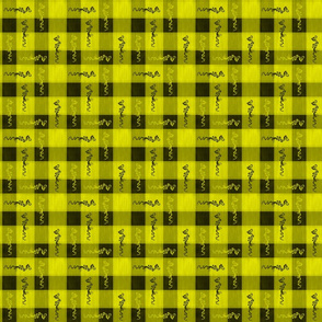 Yellow Funky Plaid